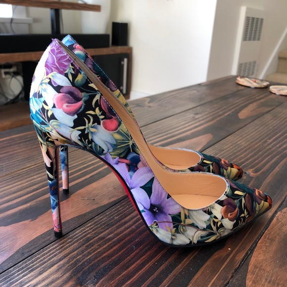new arrival fcf51 4aabc Christian louboutin Pigalle Floral Pumps 37